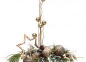 košík s vianočnou hviezdou