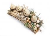 stolová vianočná dekorácia zlatá