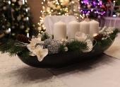vianočný ikeban biely