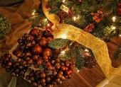 červené vianočné gule