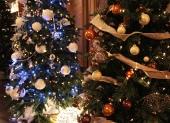 bielo modrý stromček vianočný
