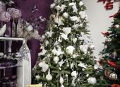 fialova- vianocny stromcek