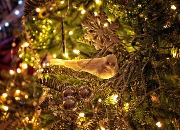vianočné ozdoby vtáčik