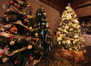 svietiace vianočné stromčeky
