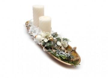 vianočná dekorácia na stôl
