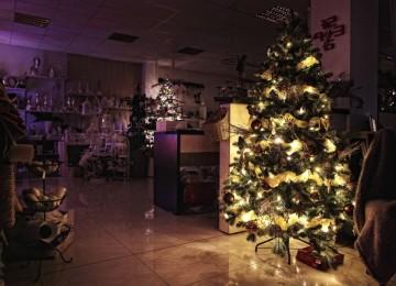 vianočný stromček svietiaci