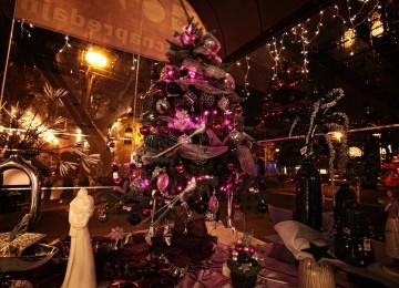 vianočné osvetlenie fialové
