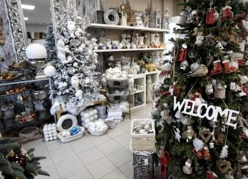 ozdobené vianočné stromčeky
